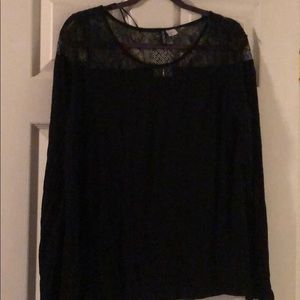 Lace Top Long Sleeved Tee